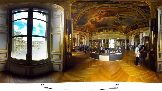 ویدئو 360 درجه موزه لوور فرانسه