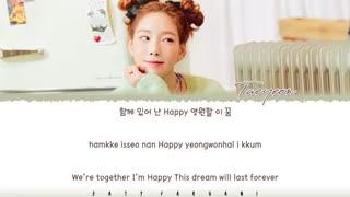 آهنگ Happy از Taeyeon عضو girls generation با زیرنویس فارسی چسبیده