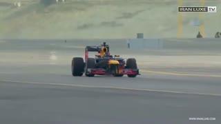 درگ ریس جذاب کاوازاکی نینجا و جت F16 و جت شخصی و ماشین فرمول وان