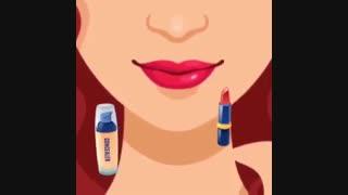 ترفندهای جالب برای آرایش لب