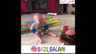 طنز کودک( این قسمت خنده های دلبری) بازی سلام