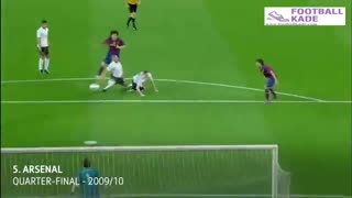 سوپر کاشته های لیونل مسی در لیگ قهرمانان اروپا
