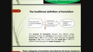اصول و مبانی نظری ترجمه - فصل اول - قسمت اول