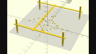 انیمیشن حرکت  سه بعدی با openscad