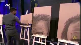 اجرای زیبای نقاشی توسط مهرداد لطیفی در فصل دوم عصر جدید
