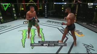 مبارزه تایرن وودلی با گیلبرت بورنز در UFC on ESPN 9