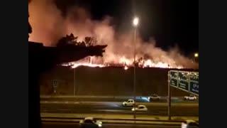 روایت شاهدان از وقوع آتش سوزی در پارک چیتگر تهران
