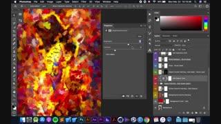 آموزش اکشن فتوشاپ افکت نقاشی انتزاعی خلاقانه