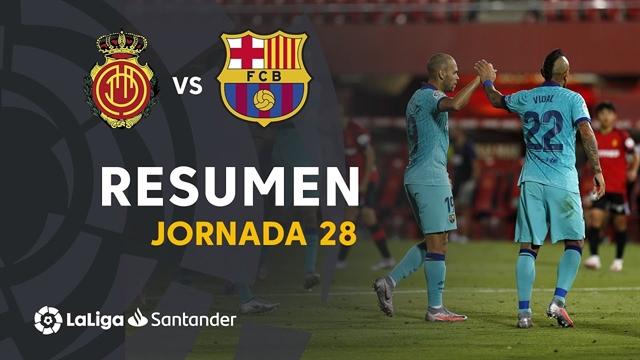 خلاصه بازی مایورکا 0 - بارسلونا 4 از هفته 28 لالیگا اسپانیا