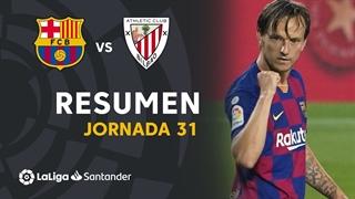 خلاصه بازی بارسلونا 1 - اتلتیک بیلبائو 0 از هفته 31 لالیگا اسپانیا