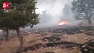 گزارش از آتشسوزی چند روزه در لوداب کهگیلویه و بویراحمد