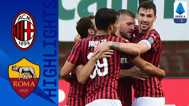 خلاصه بازی آث میلان 2 - رم 0 از هفته 28 سری آ ایتالیا