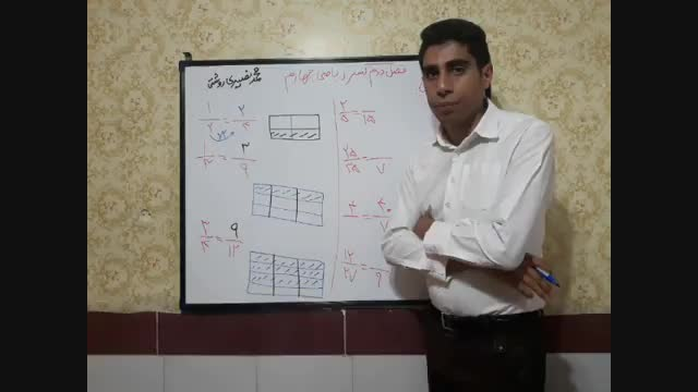 تساوی کسرها ریاضی چهارم محمد نصیری روشتی