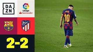 خلاصه بازی بارسلونا 2 - اتلتیکو مادرید 2 از هفته 33 لالیگا اسپانیا
