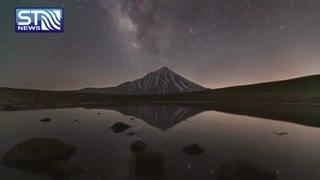 تایم لپسی زیبا از حرکت کهکشان راه شیری