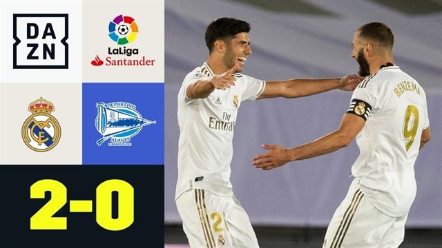 خلاصه بازی رئال مادرید 2 - آلاوز 0 از هفته 35 لالیگا اسپانیا