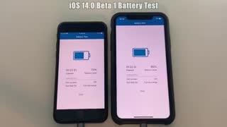 تست باتری iOS 14 beta 1