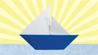 آموزش ساخت اوریگامی قایق بادبانی