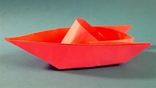 آموزش ساخت اوریگامی و کاردستی قایق کاغذی حرفه ای