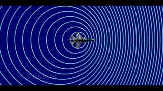 پدیده دوپلر - هنگام حرکت هواپیما و جبهههای موج در جلوی آن
