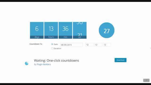 ساخت و ایجاد تایمر در وردپرس با افزونه Waiting: One-click countdowns