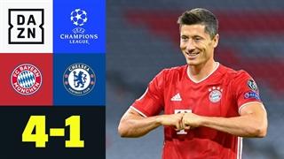 خلاصه بازی بایرن مونیخ 4 - چلسی 1  از مرحله یک هشتم نهایی لیگ قهرمانان اروپا