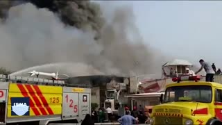 آتشسوزی بخشی از بازار پردیس ۱ در جزیره کیش