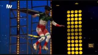 اجرای حرکات نمایشی با تک چرخ توسط منصور نادری در فصل دوم عصر جدید